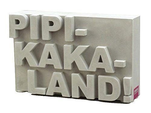 Pipikakaland!, Sandsteinguss, Beton, Baddeko, Geschenk zur Geburt - badezimmer accessoires holz