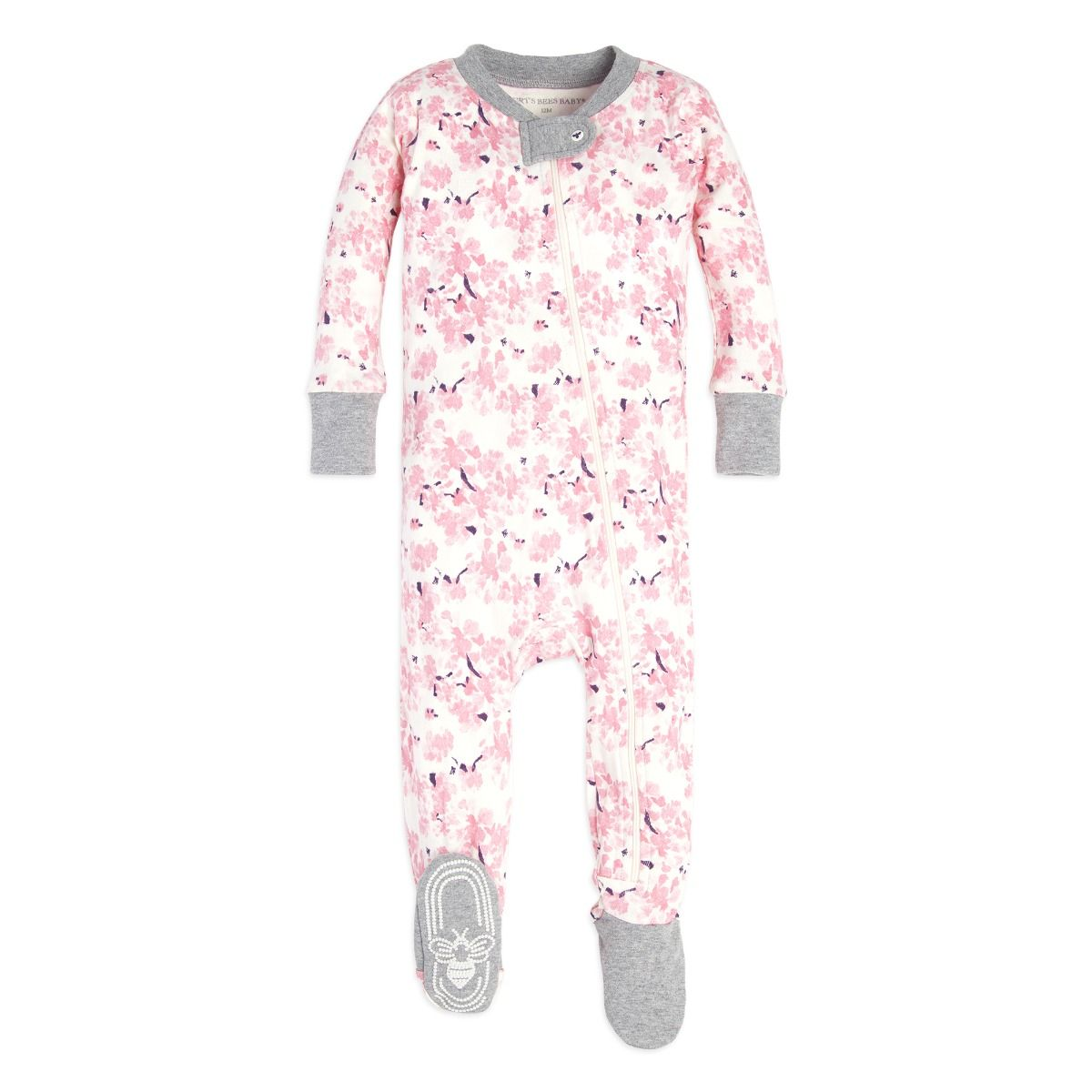 4969d2c6a Waterlily Organic Baby Zip Up Footed Pajamas