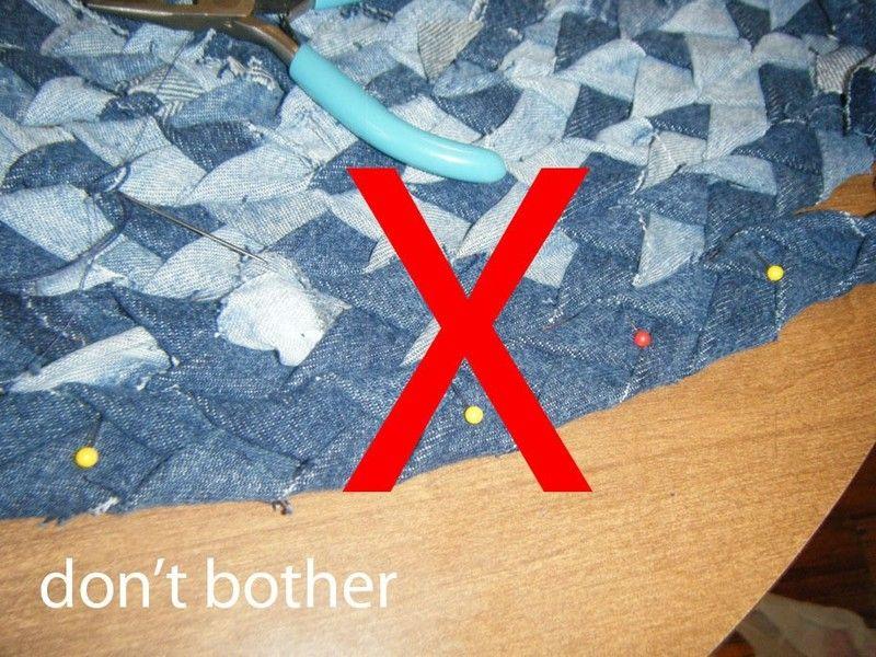 How To Make A Rag Rug Braided Denim Step 3