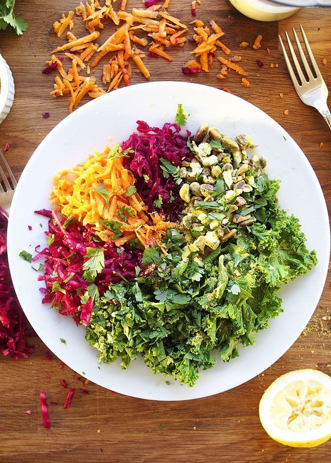 Vegan Bowl With Sauerkraut Pistachios And Jalapeño Garlic