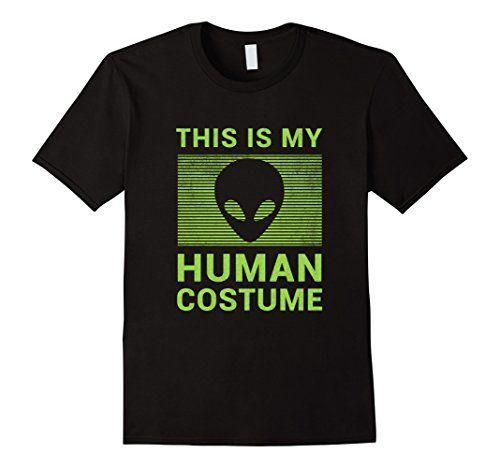 Mens Funny Alien Halloween Shirt Easy Costume for Women Men Boys 3XL - mens homemade halloween costume ideas