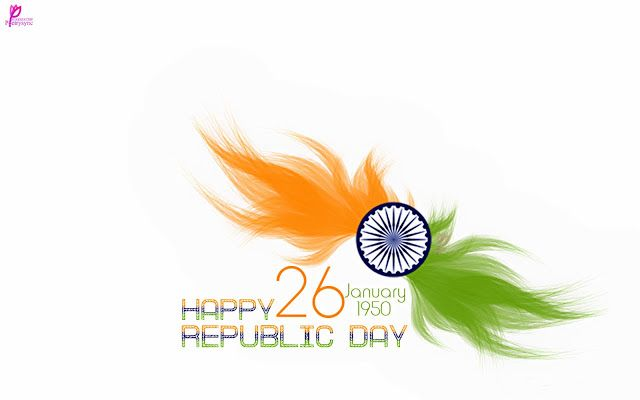 Flower With Indian Flag Hd: Happy Republic Day Flower Ashok Chakra Card Images 26