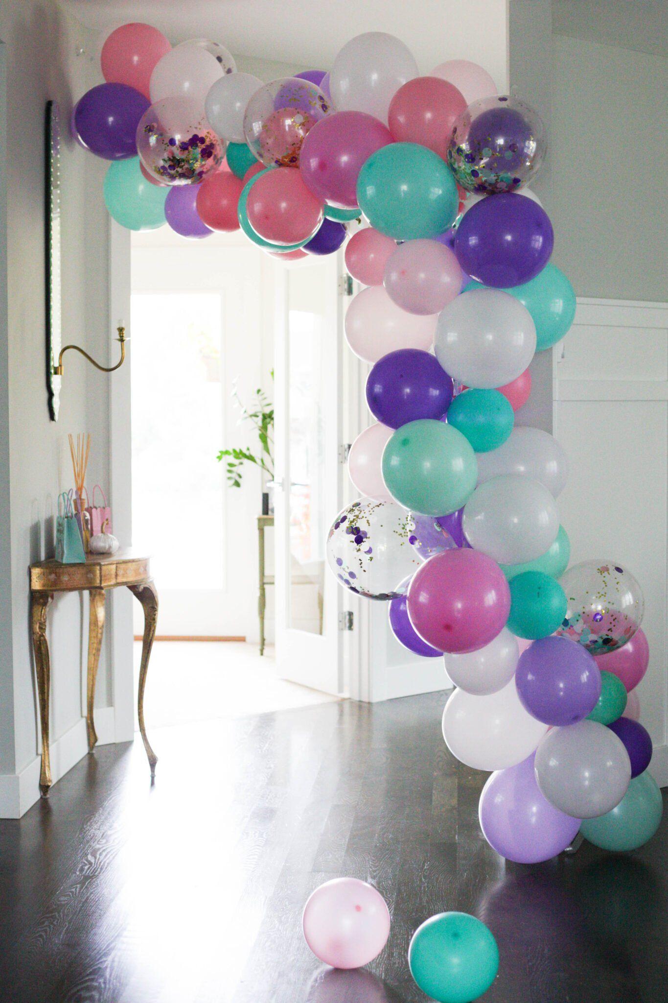 The Easiest Balloon Garland DIY - Paisley + Sparrow