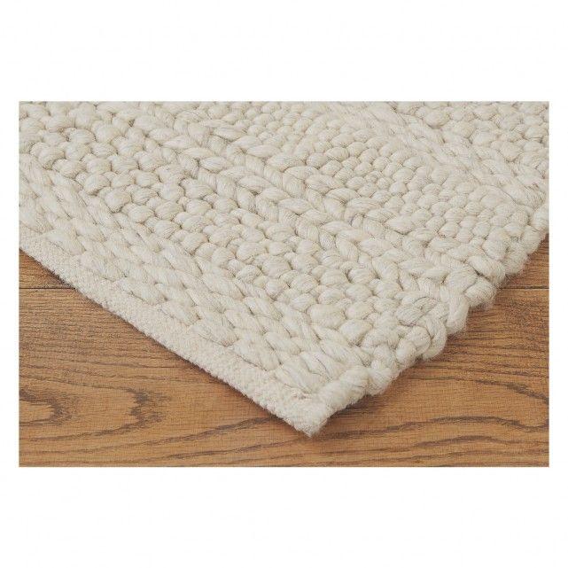 Braided Large Cream Wool Rug Wool Rug Rugs Rug Texture