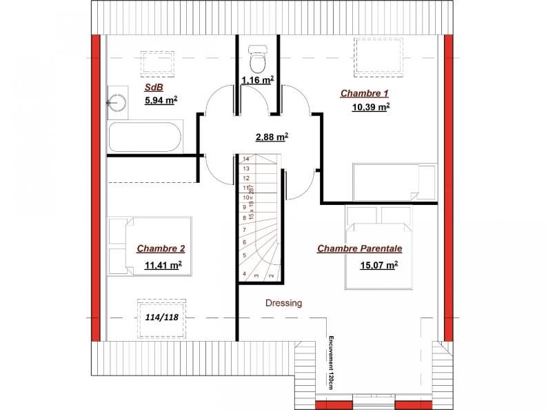 plan tage catalogne 95 le mod le catalogne 95 vous offre sur une superficie de 95m un rez de. Black Bedroom Furniture Sets. Home Design Ideas