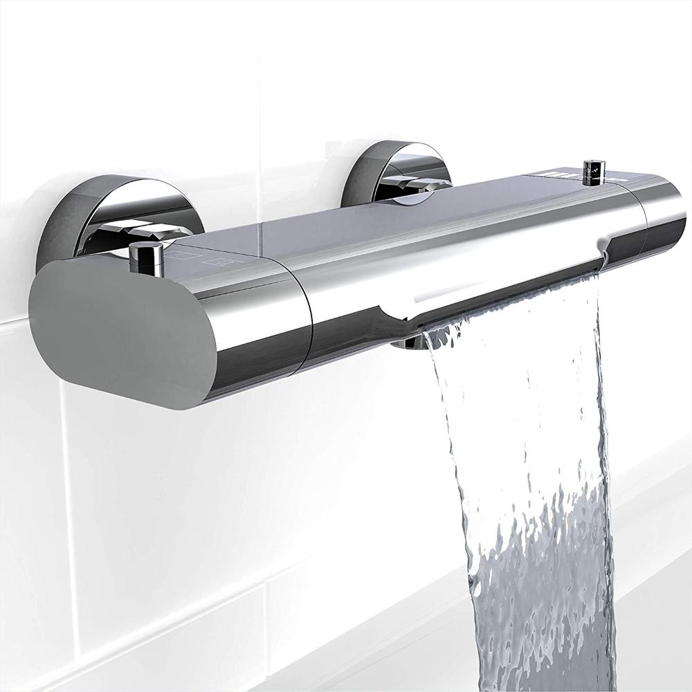 Eisl Badewannenarmatur Carneo Mischbatterie Mit Thermostatregulierung Wasserfall Auslauf Sicherheitssperre Bei 3 In 2020 Badewannenarmatur Mischbatterien Thermostat