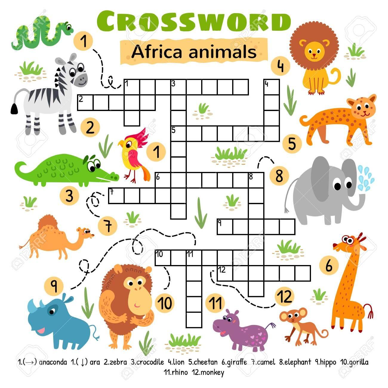 Baby Animals Crossword