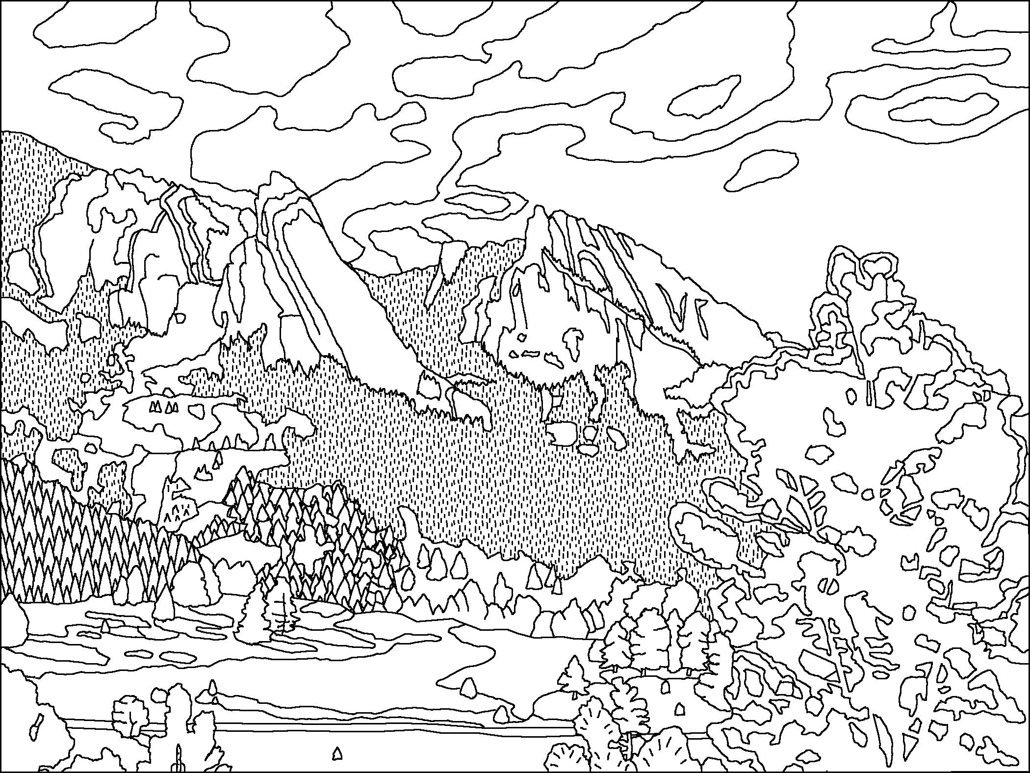 2100x1576 Obsession Smoky Mountain Coloring Pages Range