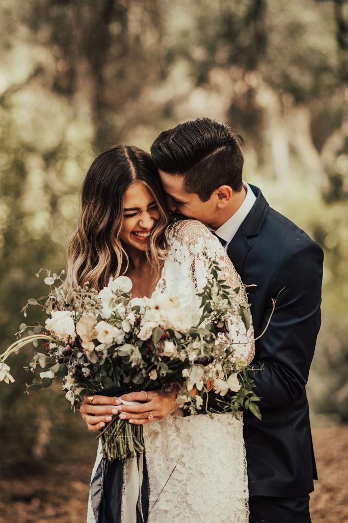 Sweet natural giggle captured here. Everything else falls into place when a bride and…