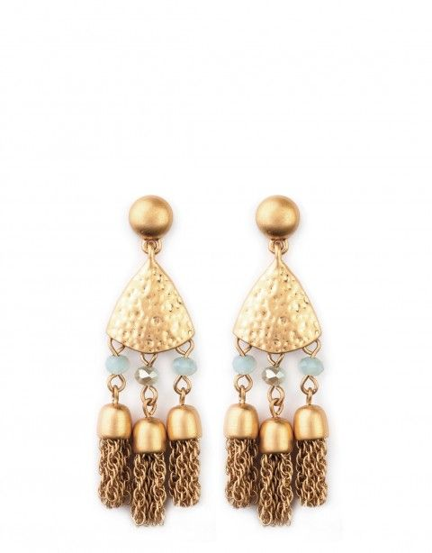 e95ebc3672fe9a Triple Tassel Earrings | Minimalist Glitz | Earrings, Tassel ...