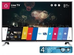 "Smart TV LED 3D 42"" LG 42LB6500 Full HD 1080p - Conversor Integrado DTV 3 HDMI 3 USB Wi-Fi WebOS"