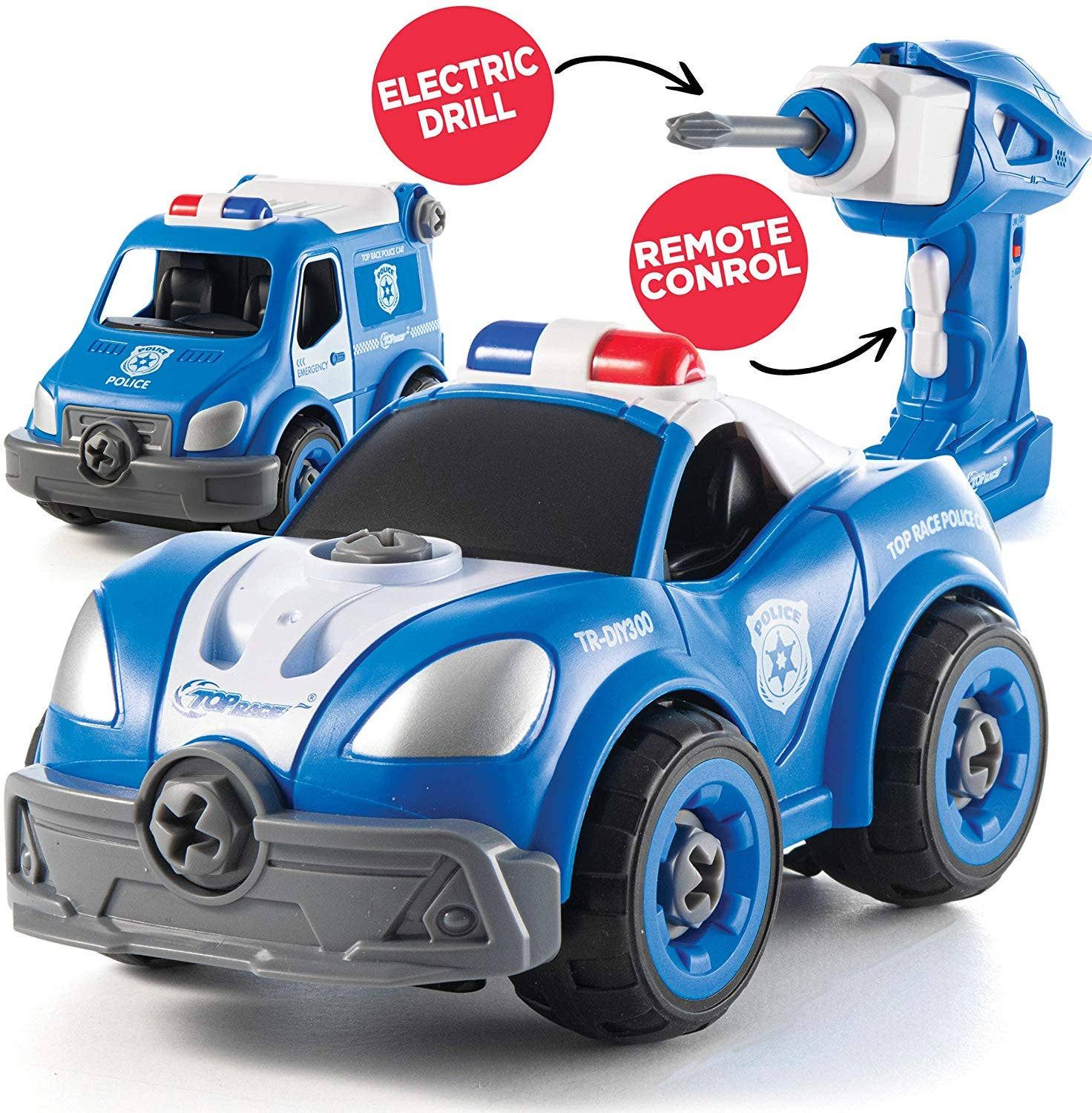 Wholesale Diy Remote Control Police Car Build It Yourself 2 In 1 Toys For Boys Police Cars Police Toys