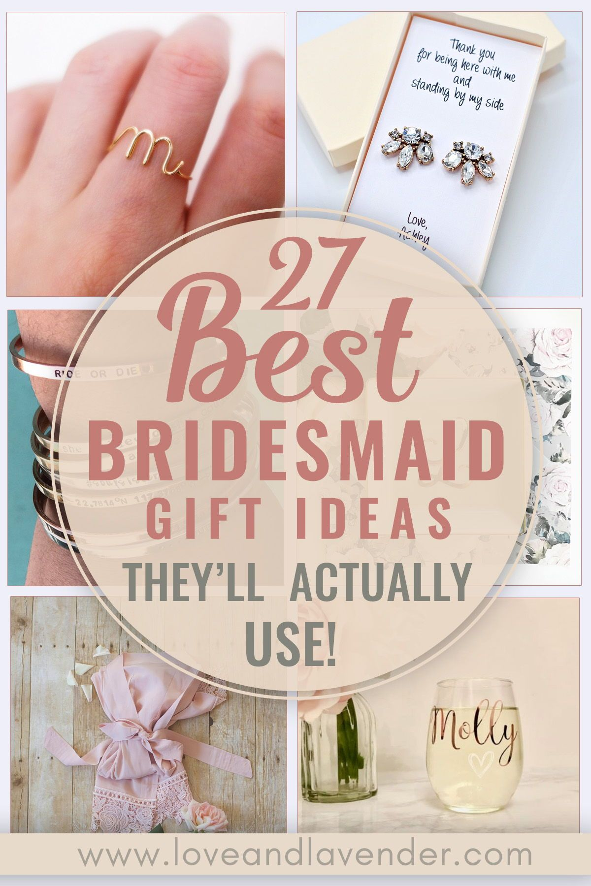 27 Best Bridesmaid Gift Ideas They Ll Actually Use Wedding Gifts For Bridesmaids Gifts For Wedding Party Best Bridesmaid Gifts