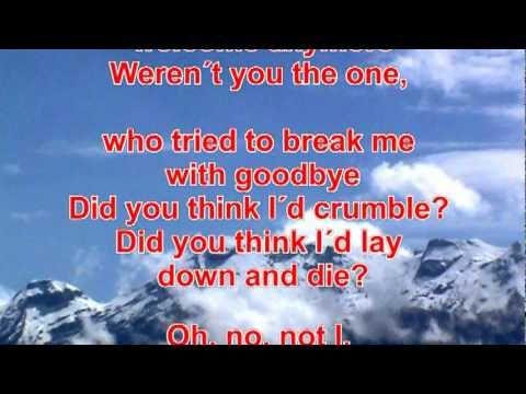 Gloria Gaynor I Will Survive Con Letra En Ingles Youtube Letras Letras Inglesas Youtube