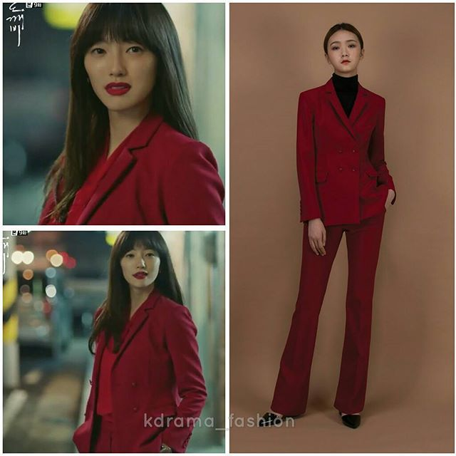 Lee El wore TOYKEAT Crepe Double Breasted Jacket and matching Crepe Flared Pants (Sold out already) in Goblin Drama Episode 8 & 9. Photo credit to rightful owner.  #leeel #이엘 #도깨비 #드라마패션 #패션 #스타패션 #패션스타그램 #토이킷 #자켓 #팬츠 #toykeat #jacket #pants #goblin #kdrama_fashion #kfashion #kdramastyle #kstyle #style #fashion #스타일 #인스타그램 #셀럽패션 #연예인패션 #연예인착용 #dailylook #lookoftheday