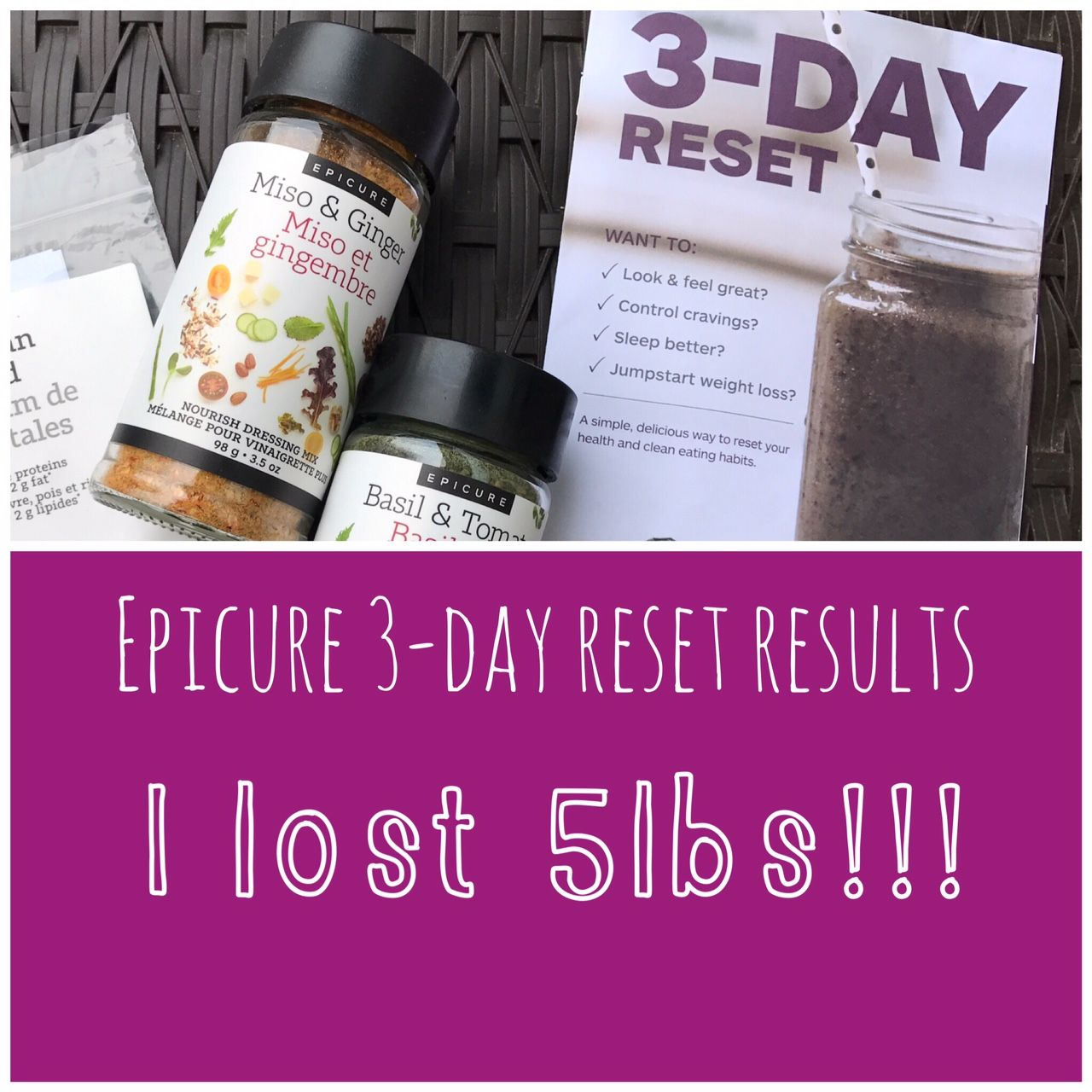 Epicure 3Day Reset review Kick start healthy eating