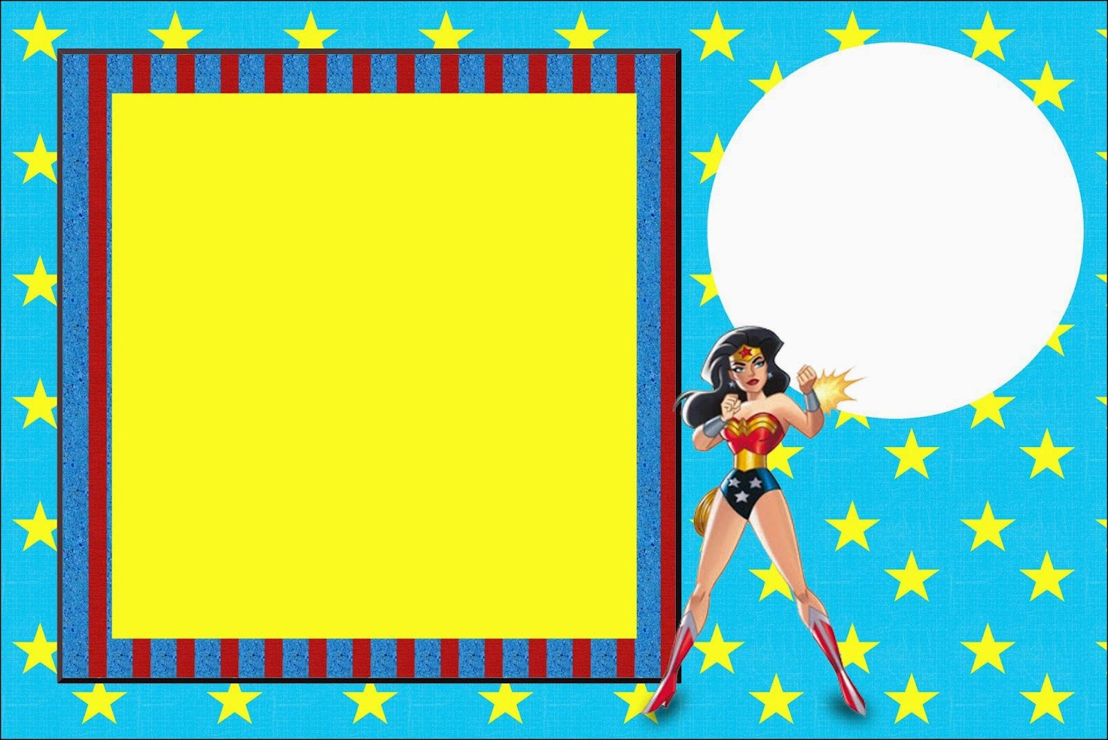 Wonder Woman Free Printable Invitations Labels Or Cards