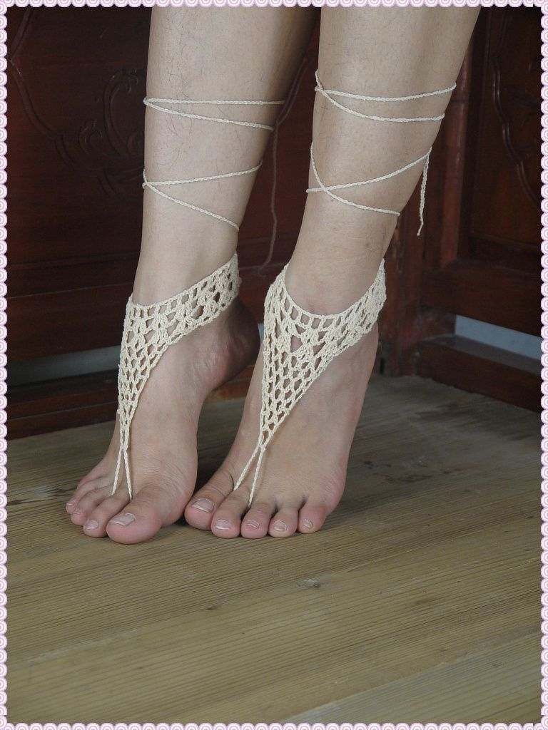 sexy barefoot sandals,hippie foot thongs, bridal bridesmaids summer