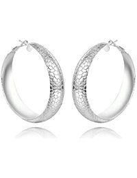 56fd9ffb046e nykkola Fashion bañado en plata de ley 925 joyería único Big aro colgante  pendientes para las mujeres