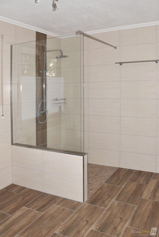 Die Glas Duschabtrennung Mit Einem Verkurztem Festteil Befestigung Dezentes U Profil Badidee Badrenovieren Dusche E In 2020 Eckduschen Duschwand Duschabtrennung