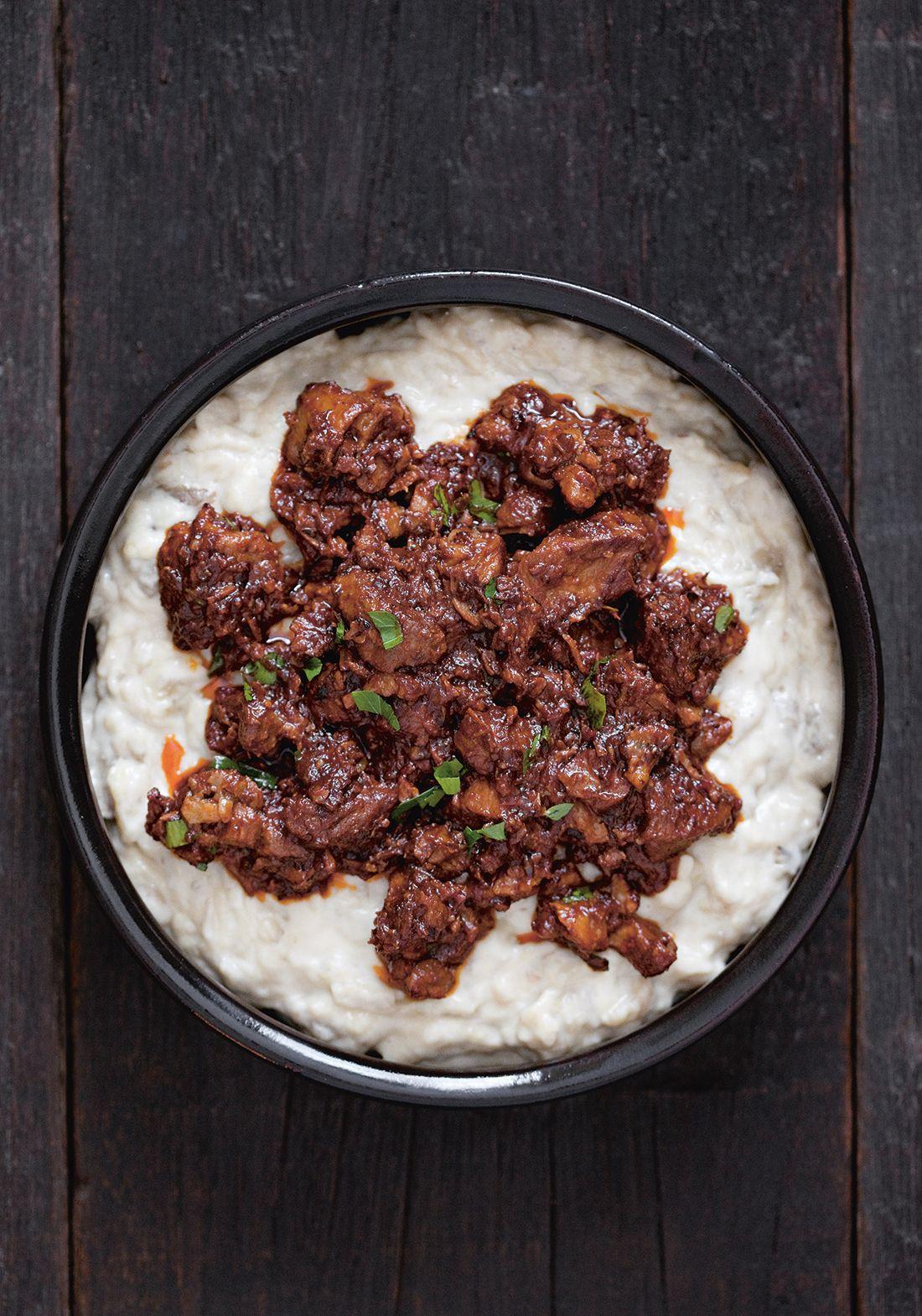 recipe: lamb and aubergine stew [16]