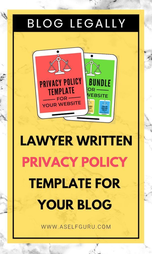 Privacy Policy Template 2019 >> Grab This Awesome Privacy Policy Template Written By An