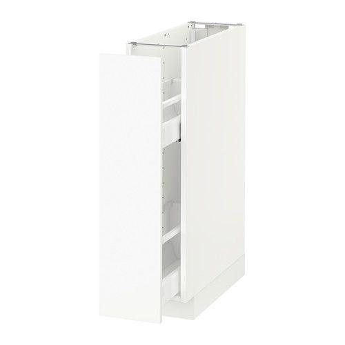 METOD Benkeskap m utrb innr - hvit, Häggeby hvit - IKEA