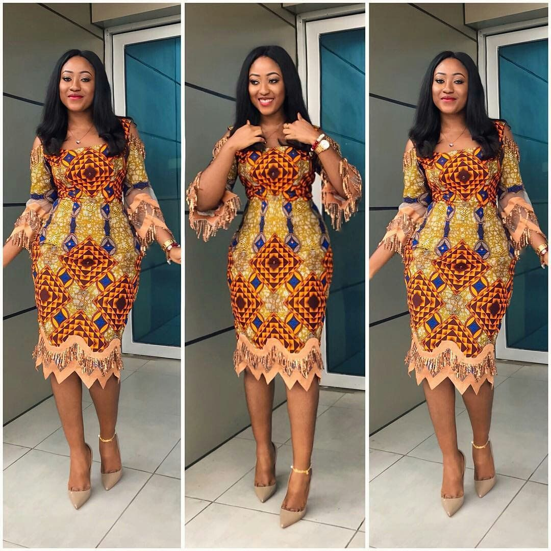 15+ Beautiful African Print Inspired Dresses | Ankara styles, Ankara ...