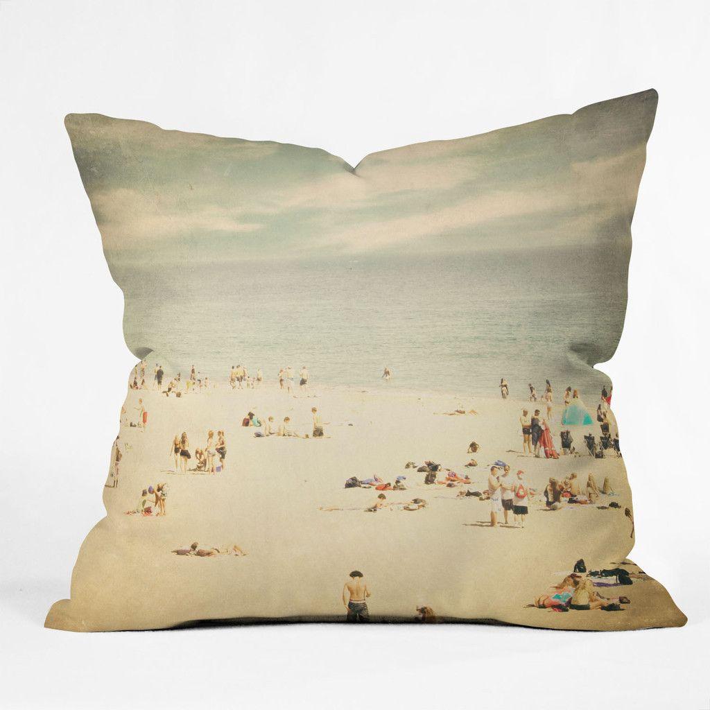 deny designs shannon clark vintage beach polyester throw pillow  - deny designs shannon clark vintage beach polyester throw pillow  allmodern