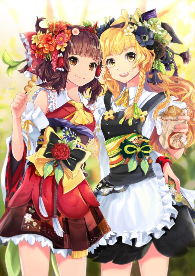 Reimu and Marisa in springtime