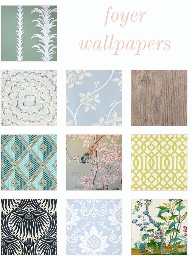 Top 10 Entryway Wallpapers Good Bones Great Pieces Foyer Wallpaper Foyer Wallpaper Entryway Hallway Wallpaper