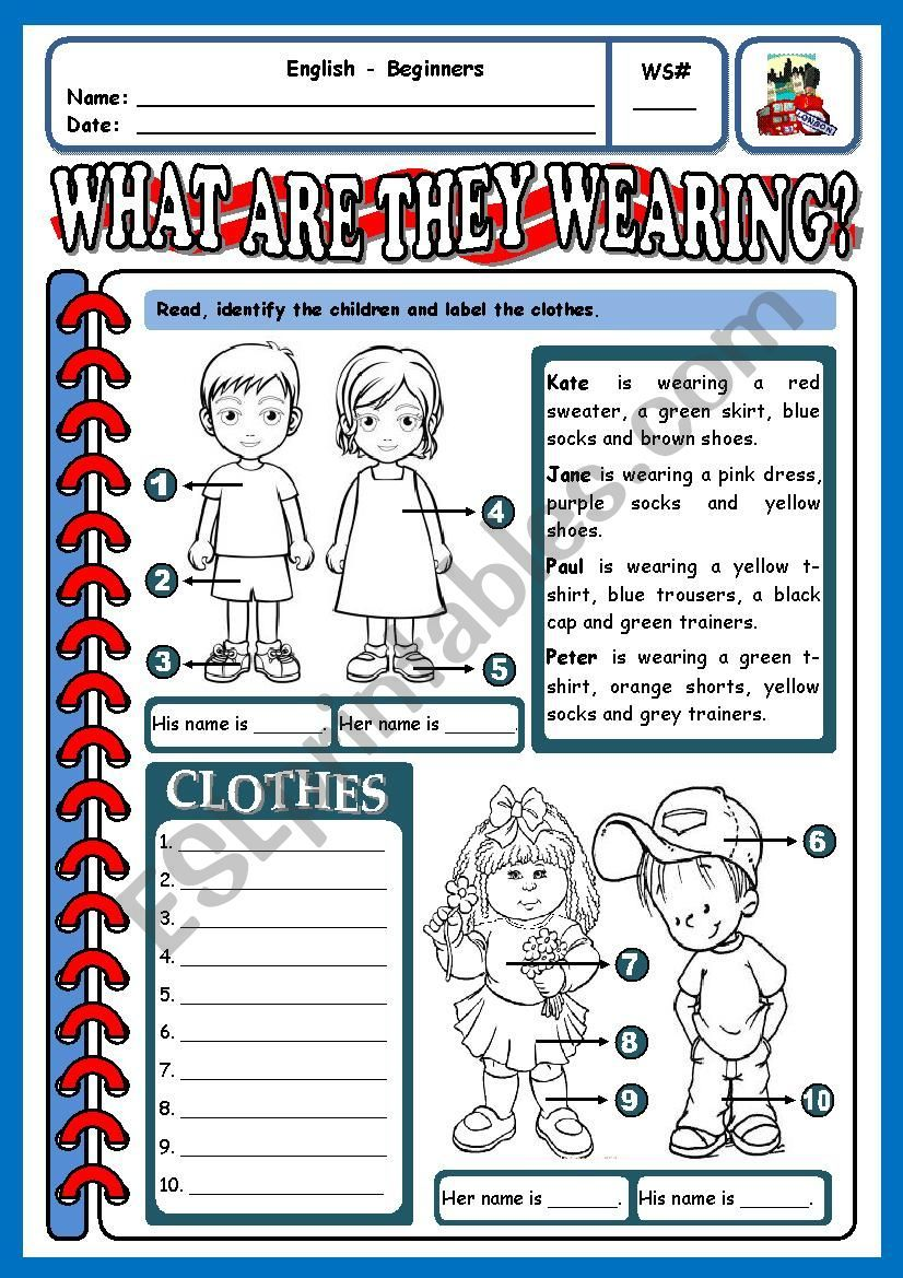 Worksheet for beginners first students have to label the