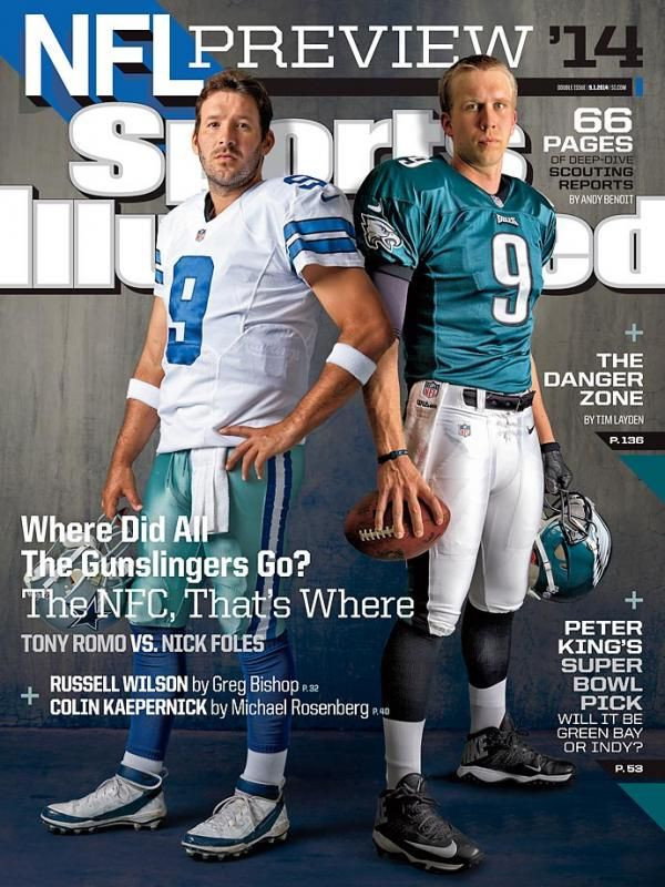 Tony Romo Nick Foles On This Week S Sports Illustrated Cover Tony Romo Sports Illustrated Covers Sports Illustrated Nfl