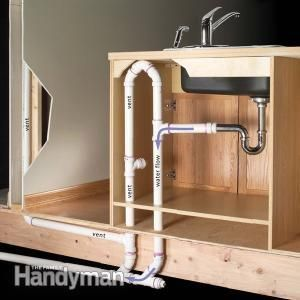 Two Ways To Plumb An Island Sink Kitchen Island With Sink Diy Plumbing Sink In Island