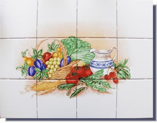 Vegetables Designs On Ceramic Tiles Tiles Kitchen Designs