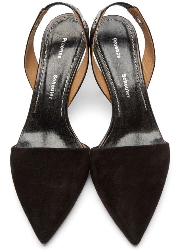 bfbb8fe60c Proenza Schouler Black Slingback Kitten Heels | If The Shoe Fits ...