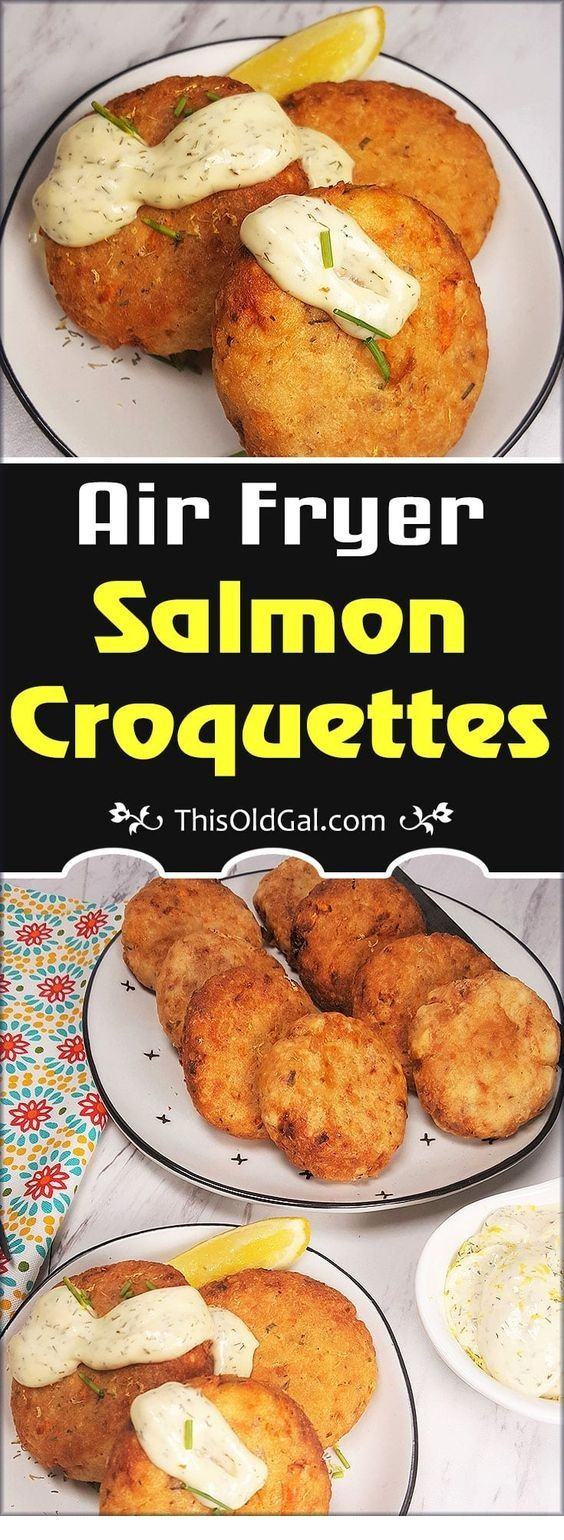 Jewish Style Air Fryer Salmon Croquettes | Air Fryer Recipes #airfryerrecipes