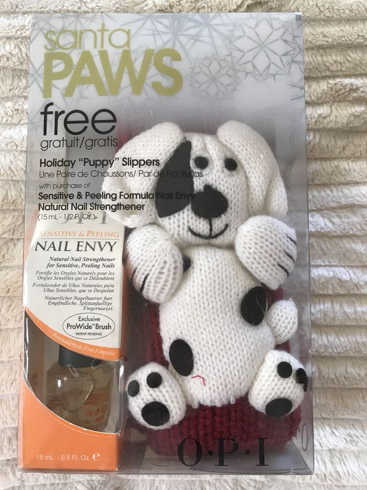 Opi Nail Envy For Sensitive Peeling Nails Gift Set Puppy Slippers ...