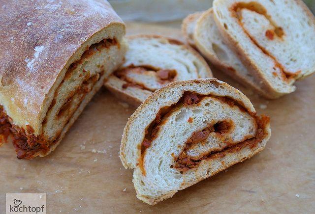 Mediterranean Stuffed Bread for BBD #61 by kochtopf, via Flickr