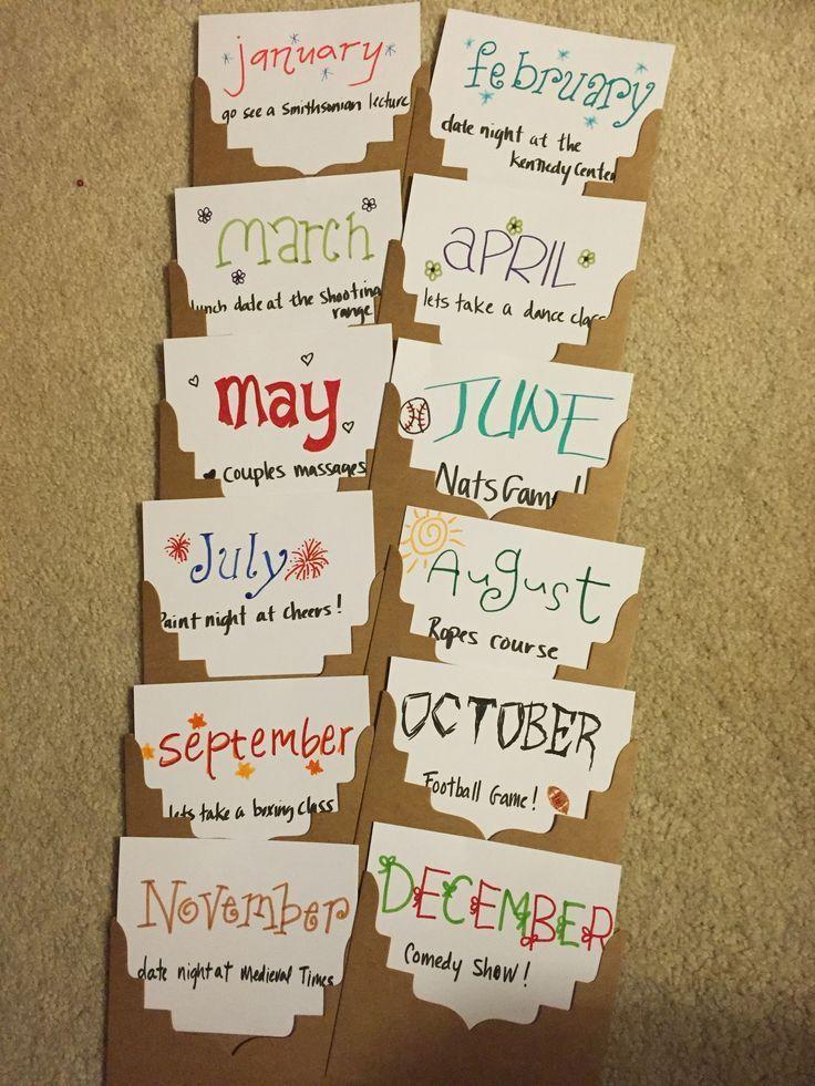 Termine für 12 Monate. Geschenkideen | Geschenkkorb für