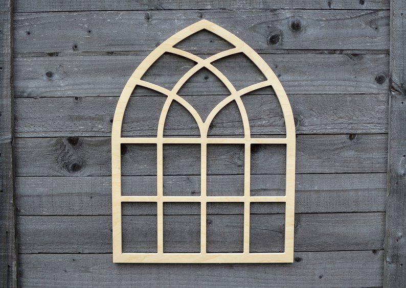 Cathedral window frame window frames farm home decor