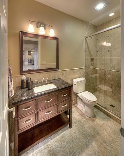 design connection inc lower level bathroom kansas city interior design