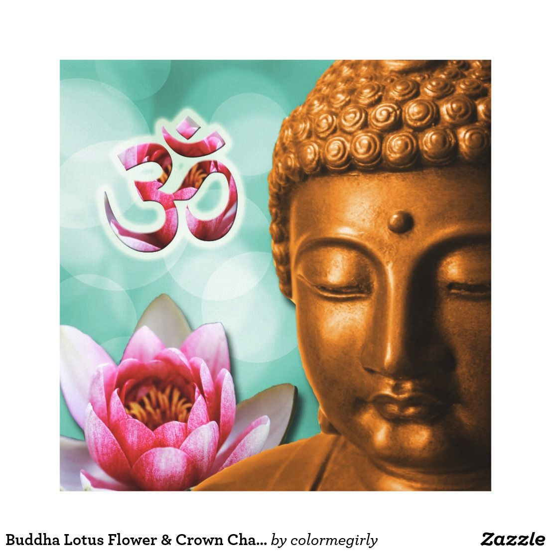 Buddha lotus flower crown chakra canvas print custom buddha buddha lotus flower crown chakra izmirmasajfo