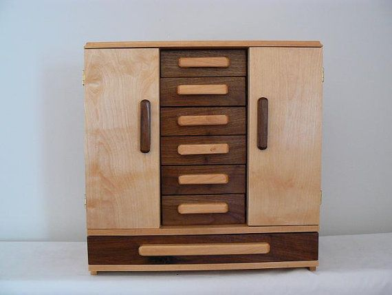 Handmade Wooden Hannahs Jewelry Box Handcrafted Wooden Jewelry