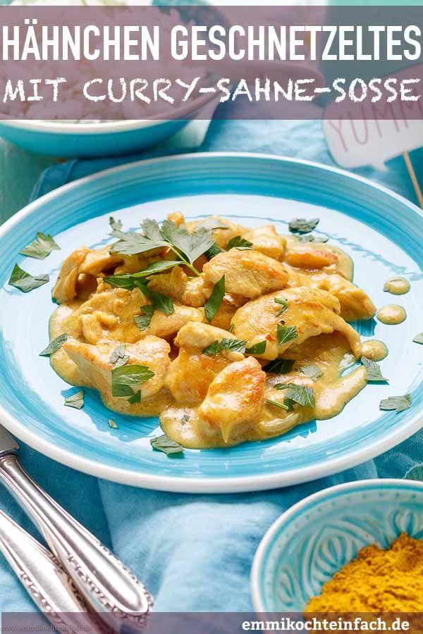 Photo of Hähnchengeschnetzeltes mit Curry-Sahne-Soße