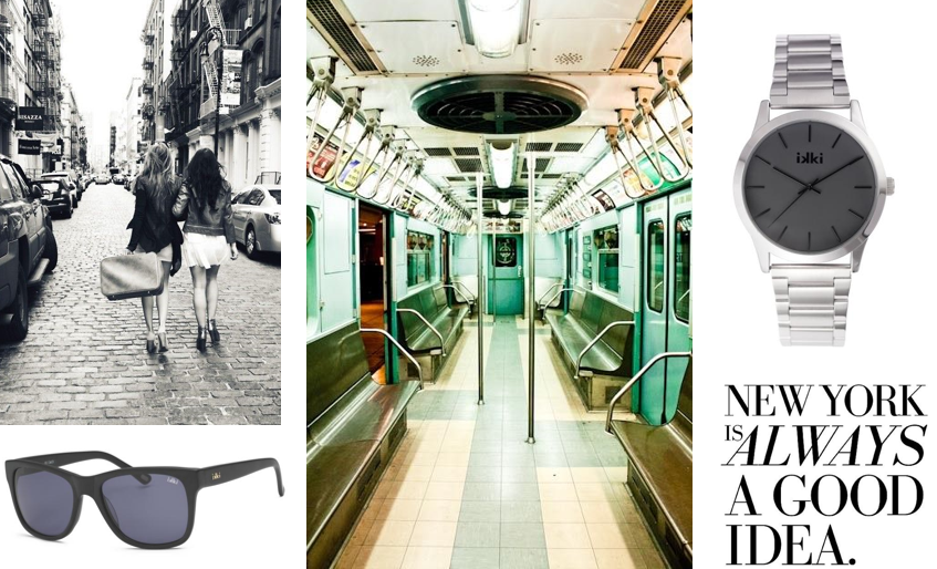Love NYC, urban style, New York, street, sunglasses, zonnebril, eyewear, horloge, classy, zilver, zwart, black, ikki style. www.ikkifashion.com