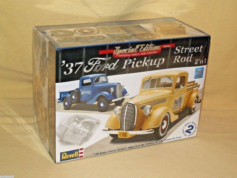Ford Pickup 1937 Revell Truck Street Rod Model Car Kit New 2 n 1 ...