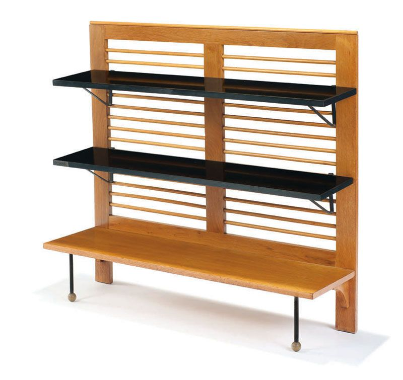 Greta Magnusson Grossman Bookshelf Designed C 1950 Walnut