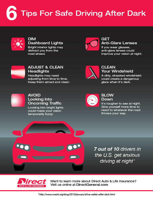 Six Tips For Safe Driving After Dark Drive Safe How To Clean