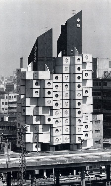 Kisho kurokawa nakagin capsule tower 1972 tokyo japan for Architecture organique exemple